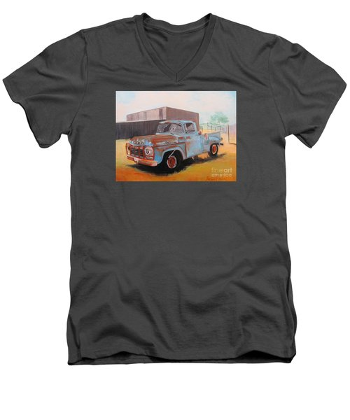 Old Blue Ford Truck Men's V-Neck T-Shirt