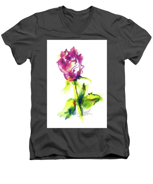 Old Blush - Rose Men's V-Neck T-Shirt