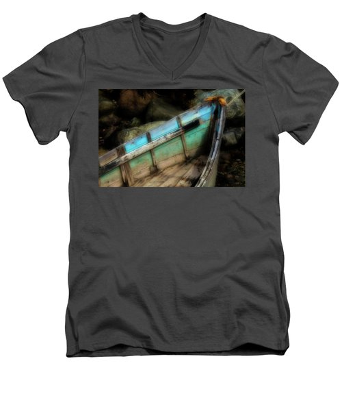 Old Boat 1 Stonington Maine Men's V-Neck T-Shirt