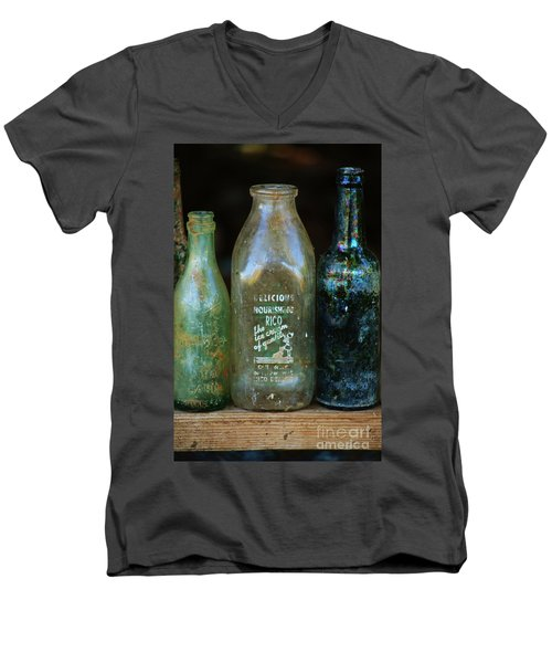 Old Bottles Hawaii Men's V-Neck T-Shirt by Craig Wood