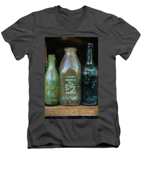 Old Bottles Hawaii Men's V-Neck T-Shirt
