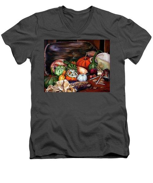 Old Bowl Cornucopia Men's V-Neck T-Shirt