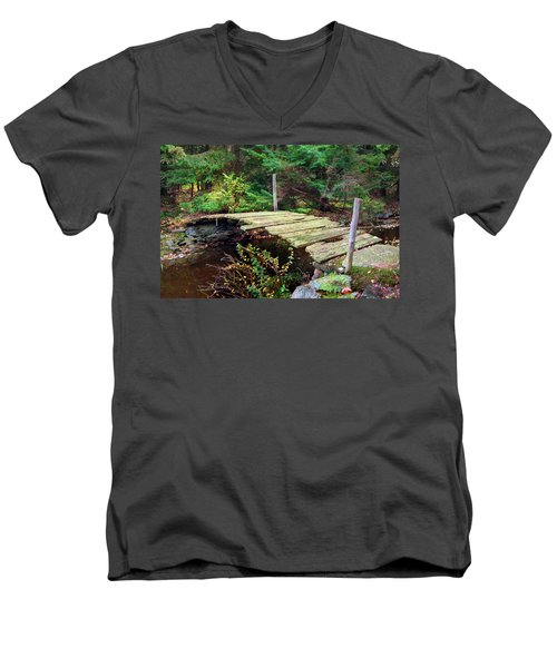 Men's V-Neck T-Shirt featuring the photograph Old Bridge by Francesa Miller