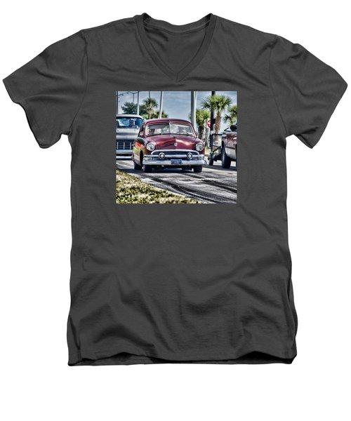 Old Car 1 Men's V-Neck T-Shirt by Cathy Jourdan
