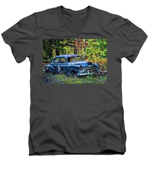 Old Car Men's V-Neck T-Shirt by Alana Ranney