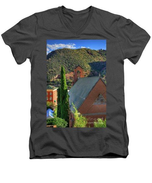 Old Church In Bisbee Men's V-Neck T-Shirt