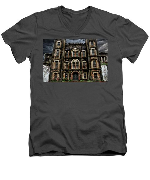 Old City Jail Men's V-Neck T-Shirt