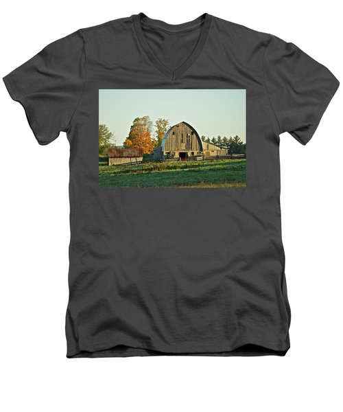 Old Country Barn_9302 Men's V-Neck T-Shirt by Michael Peychich