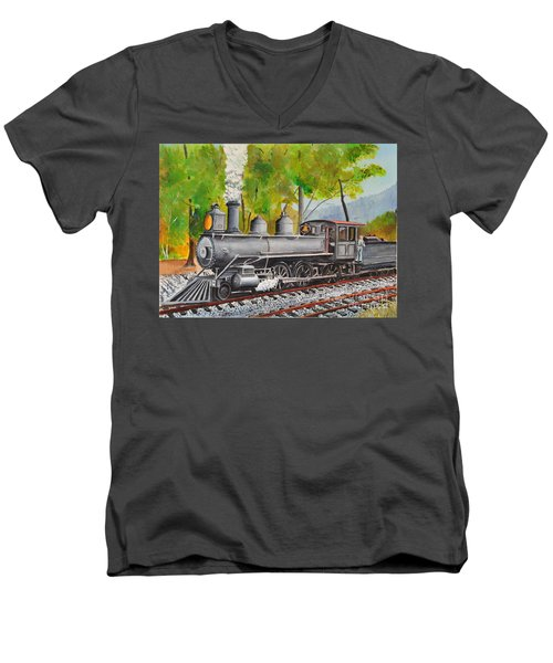 Old Engine 8 Men's V-Neck T-Shirt