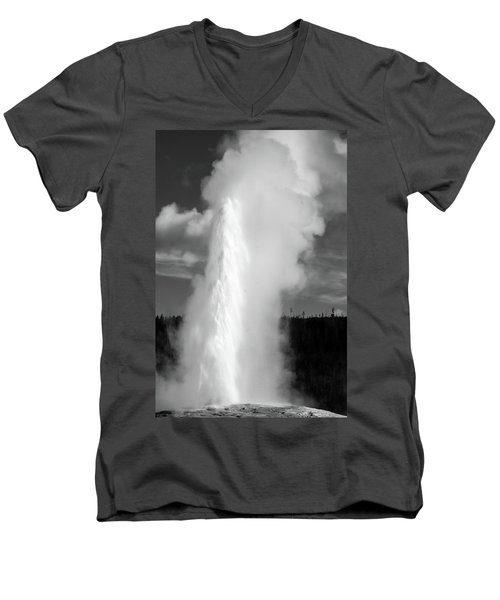 Men's V-Neck T-Shirt featuring the photograph Old Faithful by Colleen Coccia
