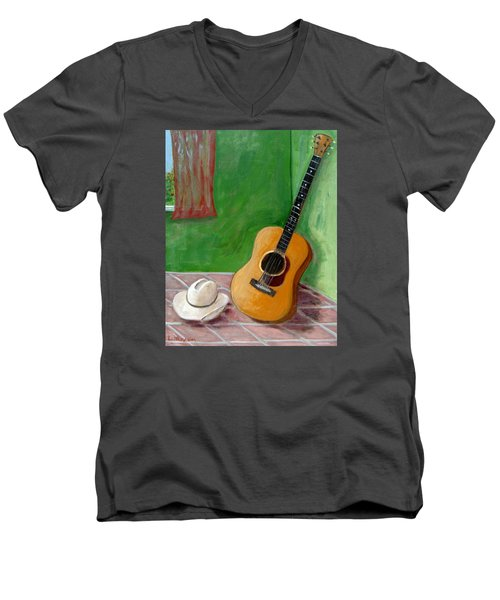 Old Friends Men's V-Neck T-Shirt by Laurie Morgan
