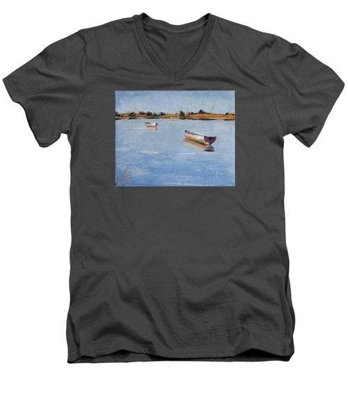 Old Friends Men's V-Neck T-Shirt by Trina Teele