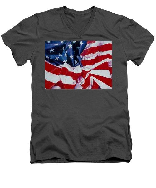 Old Glory  1 Men's V-Neck T-Shirt