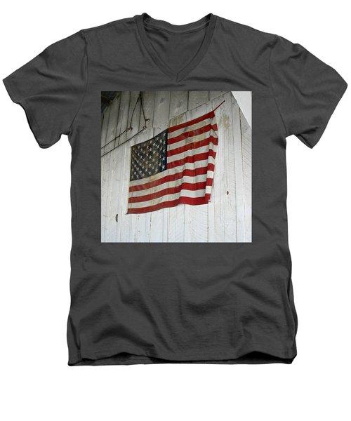 Old Glory Men's V-Neck T-Shirt by Laurel Powell