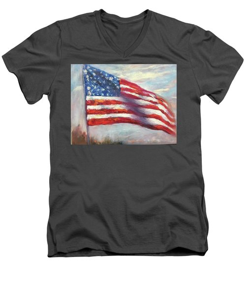 Old Glory Vi Men's V-Neck T-Shirt