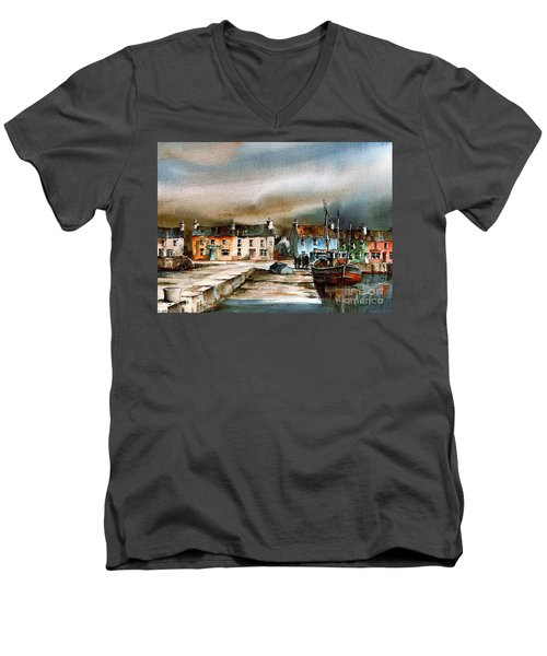 Old Harbour Dingle, Kerry Men's V-Neck T-Shirt