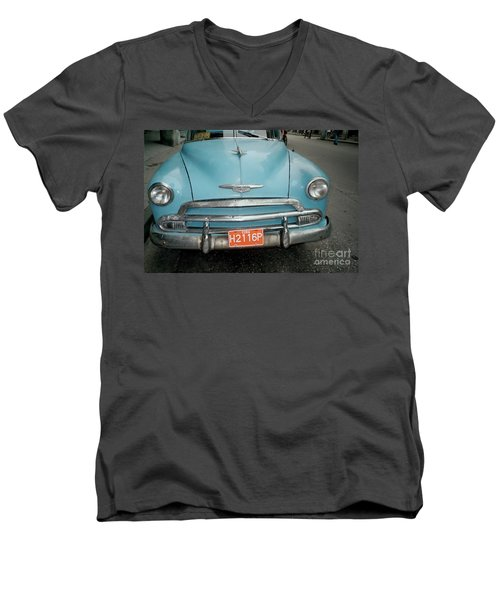 Old Havana Cab Men's V-Neck T-Shirt