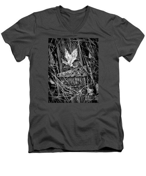 Old Hinge On Old Board Men's V-Neck T-Shirt by Walt Foegelle