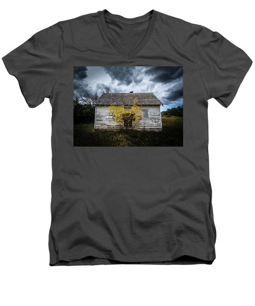 Men's V-Neck T-Shirt featuring the photograph Old House by Wesley Aston