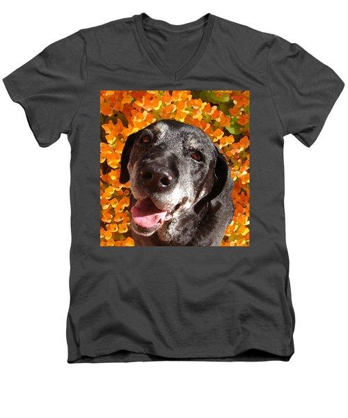 Old Labrador Men's V-Neck T-Shirt