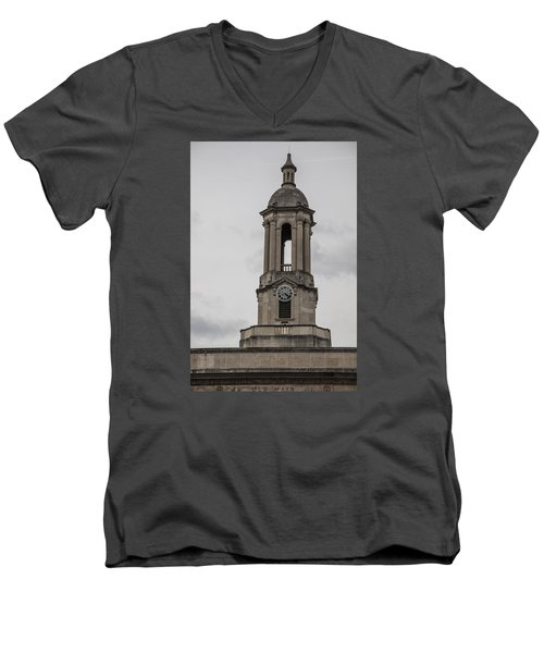 Old Main From Front Clock Men's V-Neck T-Shirt by John McGraw