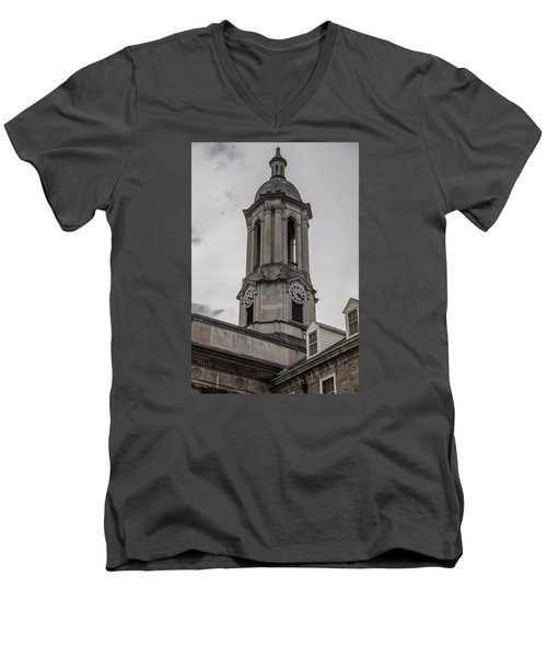 Old Main Penn State Clock  Men's V-Neck T-Shirt