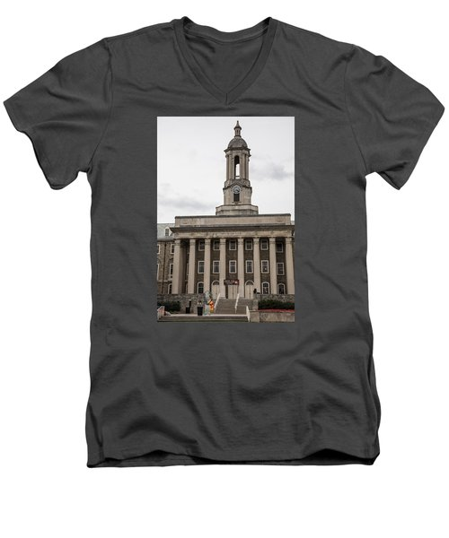 Old Main Penn State From Front  Men's V-Neck T-Shirt by John McGraw
