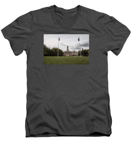 Old Main Penn State Wide Shot  Men's V-Neck T-Shirt by John McGraw