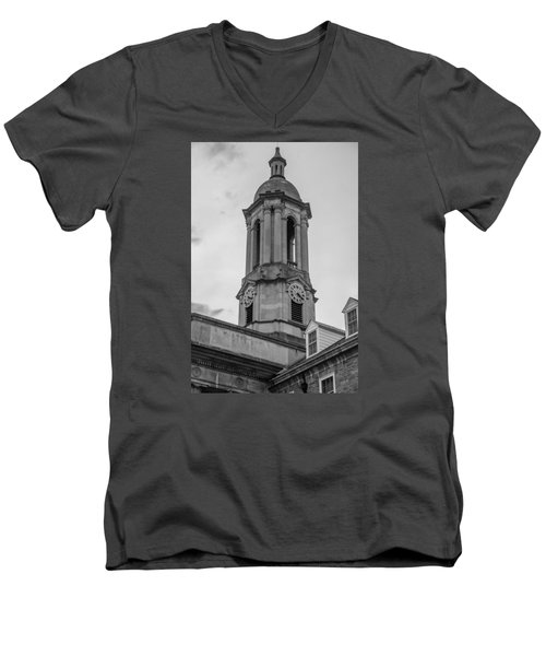 Old Main Tower Penn State Men's V-Neck T-Shirt by John McGraw