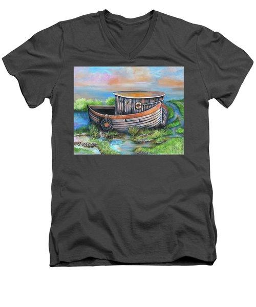 Old Mans Boat Men's V-Neck T-Shirt