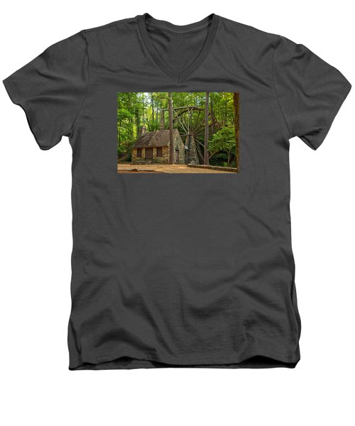 Old Mill At Berry College Men's V-Neck T-Shirt