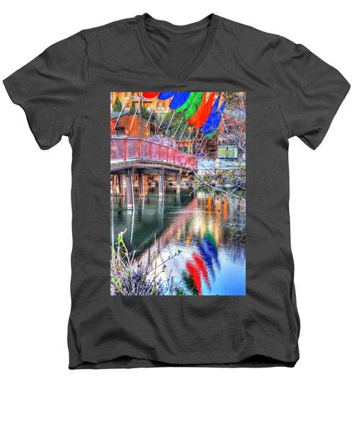 Old Mill Foot Bridge 481 Men's V-Neck T-Shirt