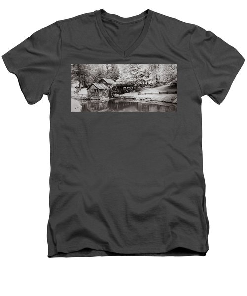 Old Mill On The Mountain Men's V-Neck T-Shirt