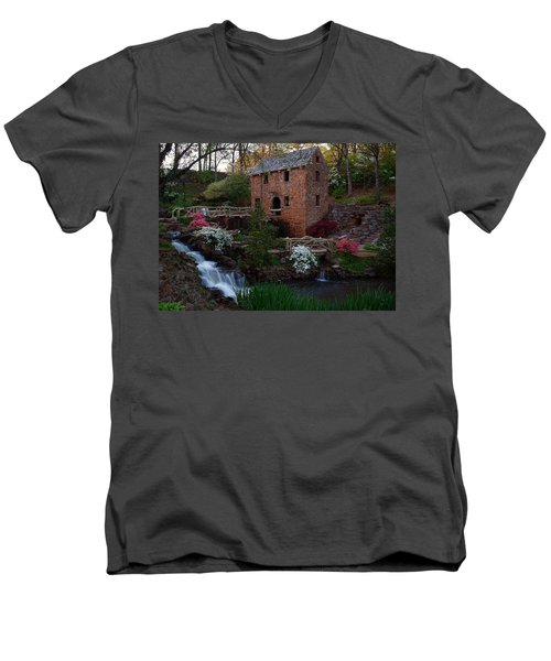 Men's V-Neck T-Shirt featuring the photograph Old Mill by Renee Hardison