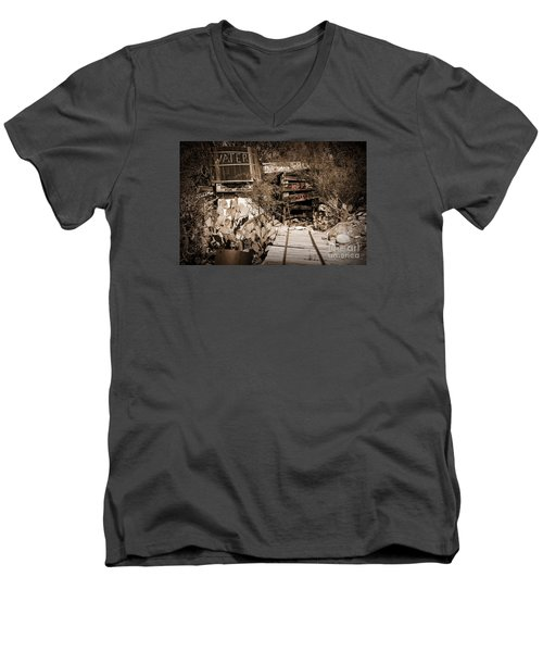 Old Mining Tracks Men's V-Neck T-Shirt
