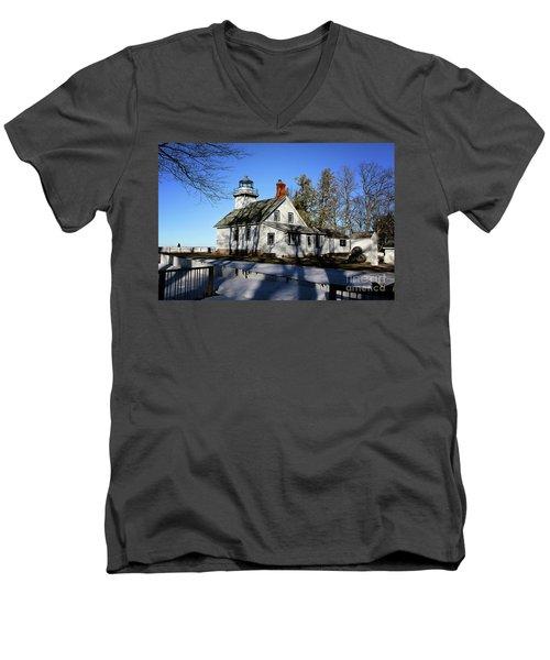 Old Mission Lighthouse Men's V-Neck T-Shirt