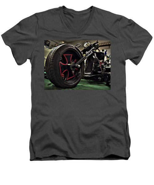 Old Motorbike Men's V-Neck T-Shirt by Tamara Sushko