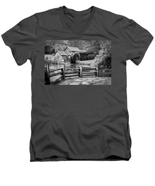 Old Mountain Morning Men's V-Neck T-Shirt