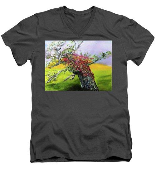Old Nantucket Tree Men's V-Neck T-Shirt