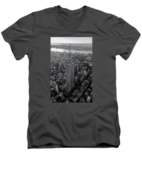 Old New New York  Men's V-Neck T-Shirt by Anthony Fields