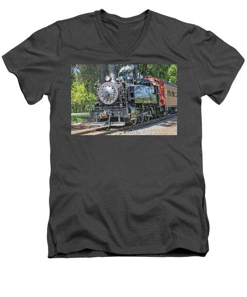 Old Number 10 Men's V-Neck T-Shirt by Jim Thompson