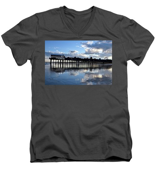 Old Orchard Beach Pier Men's V-Neck T-Shirt