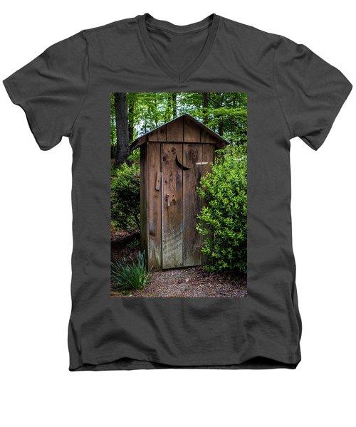 Old Outhouse Men's V-Neck T-Shirt