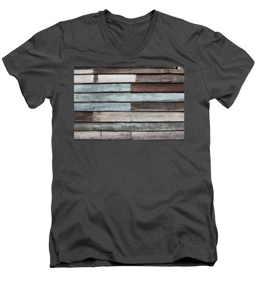 Old Pale Wood Wall Men's V-Neck T-Shirt