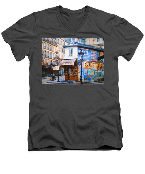Old Paris Cafe Men's V-Neck T-Shirt