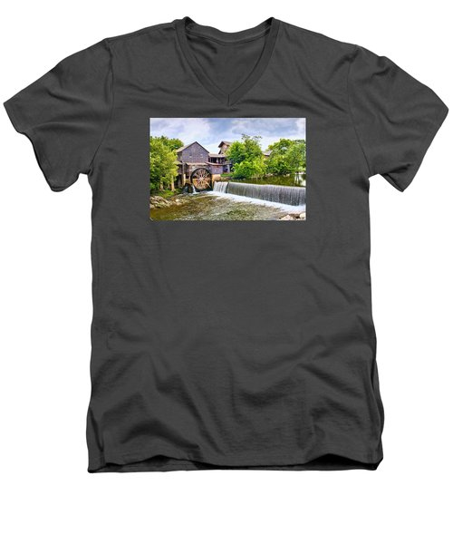 Old Pigeon Forge Mill Men's V-Neck T-Shirt