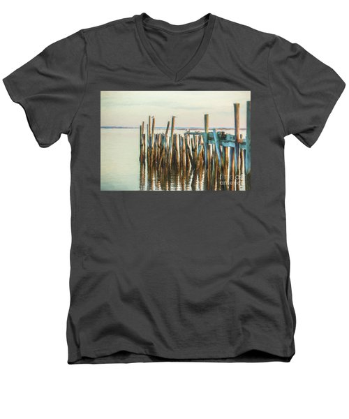 Old Provincetown Wharf Men's V-Neck T-Shirt