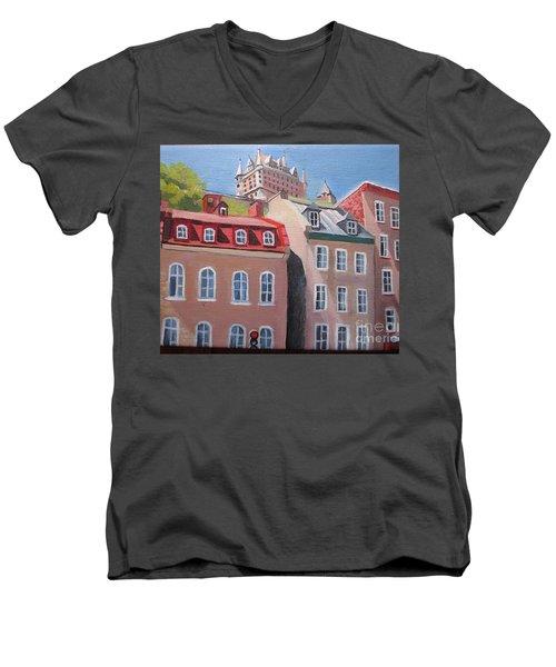 Old Quebec City Men's V-Neck T-Shirt