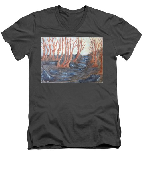 Old Road Through The Trees Men's V-Neck T-Shirt