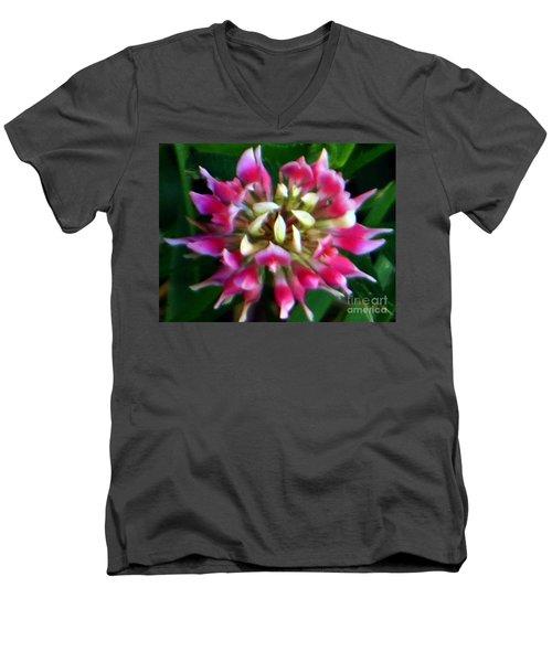 Old Rose Explosive Wildflower Men's V-Neck T-Shirt